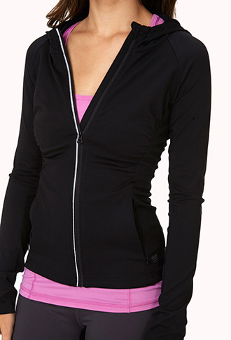 Forever 21 Ruched Athletic Hoodie