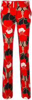 P.A.R.O.S.H. straight leg floral trousers - women - Polyester/Spandex/Elastane - XS
