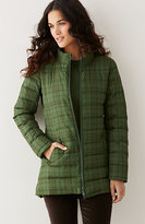 J. Jill Stockbridge Plaid Down Puffer Coat