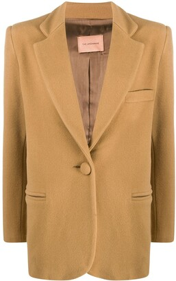 Andamane Structured-Shoulder Single Breasted Blazer