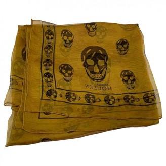 Alexander McQueen Yellow Silk Silk handkerchief