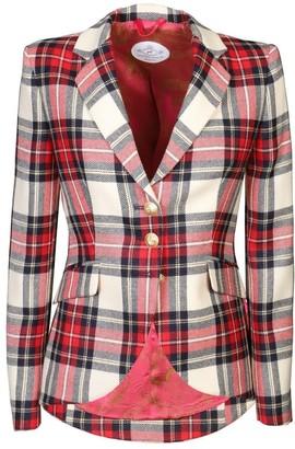Red Checkered Blazer Crista