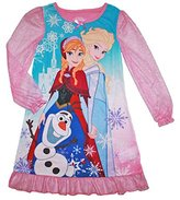 Disney Frozen Little Girls Anna, Elsa, Olaf Nightgown (S (6/6X))