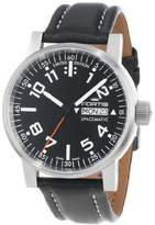 "Fortis Men's 623.10.41 L.01 ""Spacematic"" Stainless Steel Automatic Watch with Leather Band"