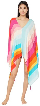 Trina Turk 25th Anniversary - Sunrise Stripe Caftan Swimsuit Cover-Up (Multi) Women's Swimwear