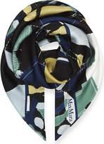 Max Mara Curvato abstract-print silk scarf