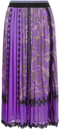 Emilio Pucci x Koche Selva print pleated skirt