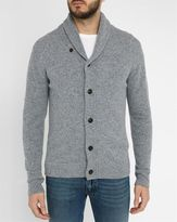 Hartford Mottled-Grey Buttoned Wool Cardigan