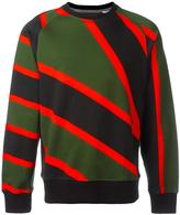 House of Holland x Umbro striped sweatshirt - unisex - Cotton - L