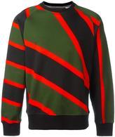 House of Holland x Umbro striped sweatshirt