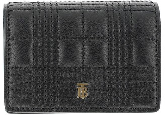 Burberry Black Leather Credit Card Holder With Chain