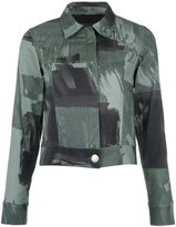 Uma Raquel Davidowicz camouflage print denim jacket