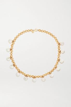 Marlo Laz 14-karat Gold Pearl Necklace - one size