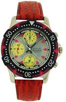 Eton Chronograph Men's Analogue 3 Sub Dial Red PU Strap Watch 1404G
