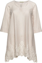 Isolde Roth Plus Size Embroidered and dotted cotton tunic