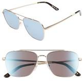Toms Men's Irwin 58Mm Aviator Sunglasses - Satin Gold