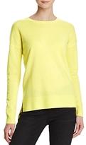 Aqua Cashmere High/Low Crewneck Cashmere Sweater - 100% Exclusive