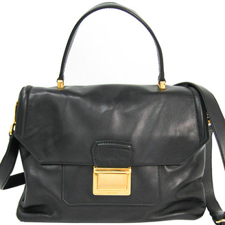 Miu Miu Black Leather Top Handle Bag