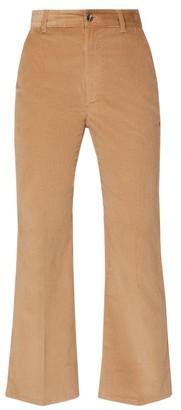 Altuzarra Adler Stretch-cotton Corduroy Kick-flare Trousers - Brown