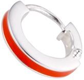 Coco & Kinney Orange Taylor Hoops In Silver