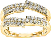 MODERN BRIDE 5/8 CT. T.W. Diamond 14K Yellow Gold Ring Guard