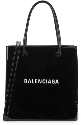 Balenciaga Shopping XXS black patent leather tote