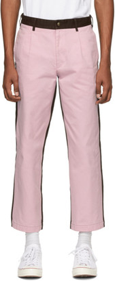 Noah NYC Pink and Brown Single-Pleat Chino Trousers
