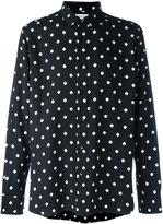 Saint Laurent polka dot print shirt
