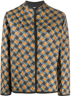 Yves Saint Laurent Pre Owned Geometric Pattern Quilted Jacket