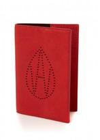 Amanda Wakeley Curtis Red Passport Case