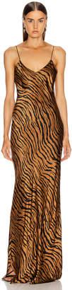 Nili Lotan Cami Gown in Bronze Tiger Print | FWRD
