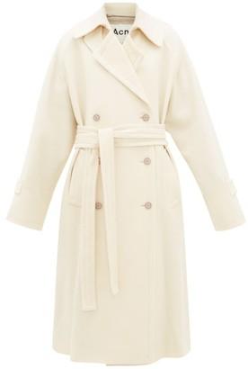 Acne Studios Orane Wool-twill Trench Coat - Womens - Cream
