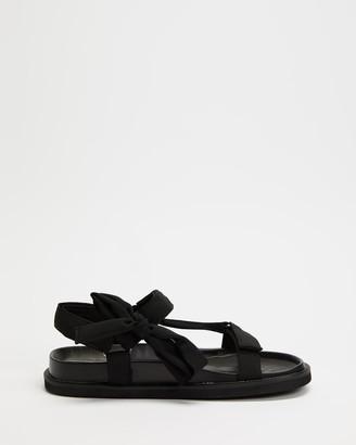 Dazie - Women's Black Flat Sandals - Ella Sandals - Size 5 at The Iconic
