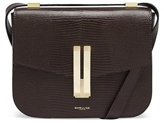DeMellier Vancouver Embossed Leather Shoulder Bag