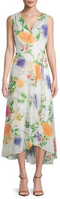 Calvin Klein Floral Sleeveless Wrap Dress
