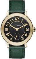 Marc Jacobs Women's Riley Dark Green Leather Strap Watch 36mm MJ1469