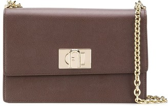 Furla Folder Leather Shoulder Bag
