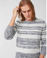 Express marl stripe crew neck sweater