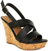 Fashion Focus Black Lisa Wedge Sandal