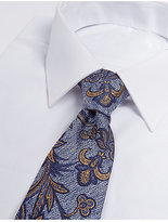 M&S Collection Pure Silk Floral Print Tie