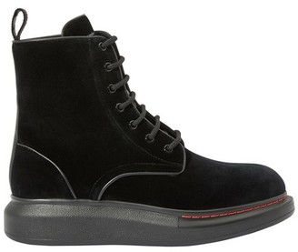 Alexander McQueen Oversize lace up ankle boots