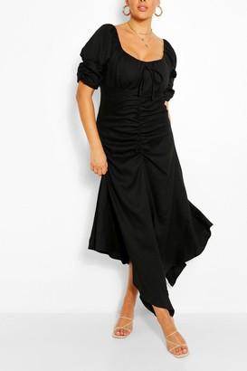 boohoo Plus Ruched Detail Maxi Dress