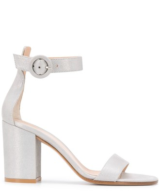 Gianvito Rossi Glitter Chunky Heel Sandals