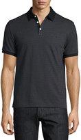 Original Penguin Diamond-Print Short-Sleeve Polo Shirt, Black