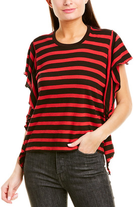 R 13 Striped Flutter T-Shirt