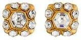 Chanel Crystal Clip On Earrings