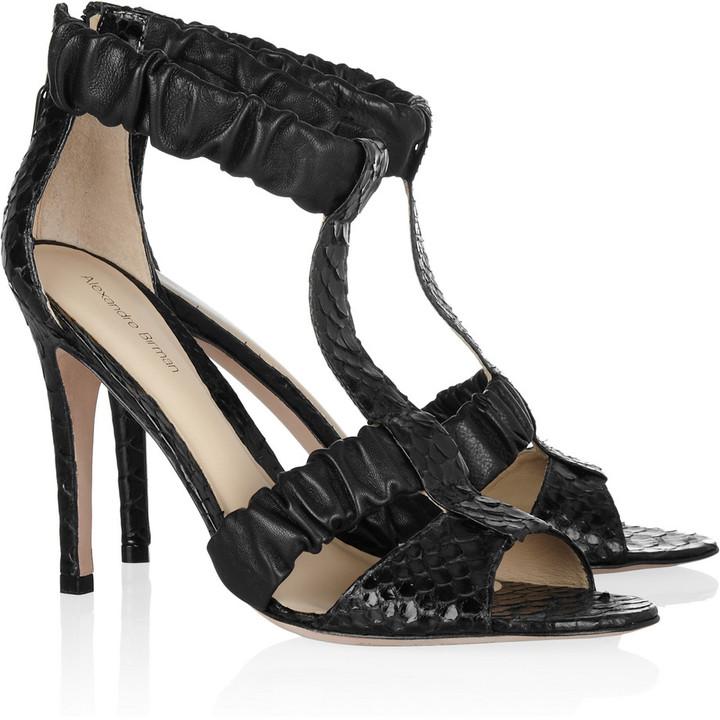Alexandre Birman Python sandals