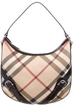 Burberry Buckle-Embellished Super Nova Check Hobo