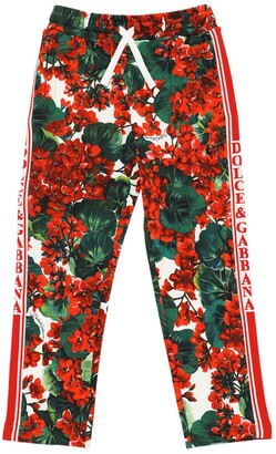 Dolce & Gabbana Geranei Print Cotton Sweatpants