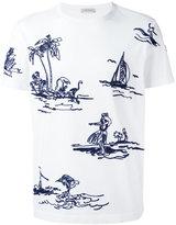 Moncler stitched motif T-shirt - men - Cotton - XS